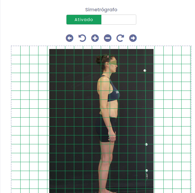 Simetrografo virtual da plataforma EKsy